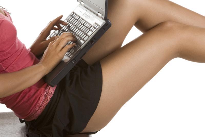 Uma garota sexy paquera online